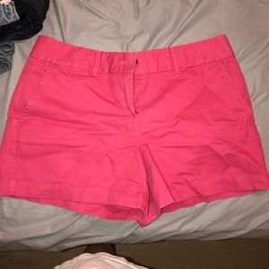 Hot pink high rise shorts